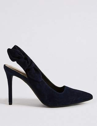 Marks and Spencer Suede Stiletto Heel Slingback Court Shoes