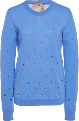 N°21 Embroidered Crewneck Sweater