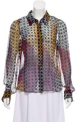 Christian Lacroix Printed Button-Up Top