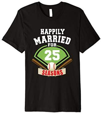 8660400e9b 25th Wedding Anniversary T-Shirt Baseball Couple Shirt