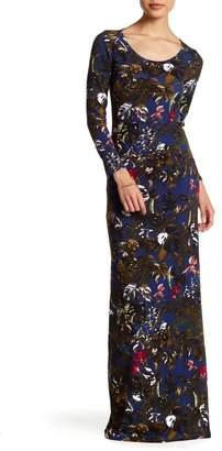 American Twist Scoop Neck Print Maxi Dress