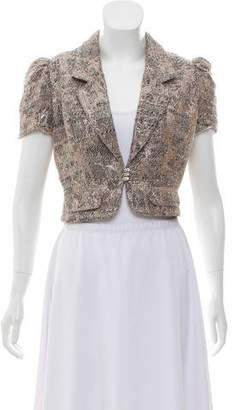 LaROK Cropped Metallic Shrug