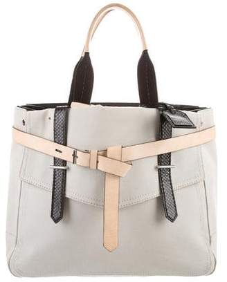 Reed Krakoff Leather-Trimmed Canvast Duffle
