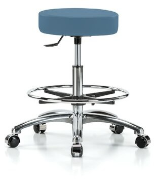 Perch Chairs & Stools Height Adjustable Swivel Stool with Foot Ring Perch Chairs & Stools