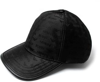 Armani Jeans Black Repeat Logo Baseball Cap 978631f4b40