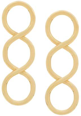J.W.Anderson gold twisted earrings