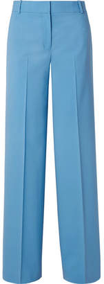 Theory Piazza Wool-blend Wide-leg Pants - Light blue