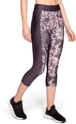 Under Armour Women's High Waisted HeatGear Print Capri Leggings