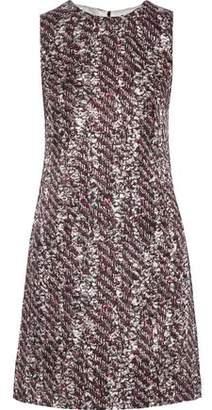 Dolce & Gabbana Printed Silk-blend Jacquard Mini Dress