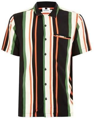 Topman Mens Multi Stripe Short Sleeve Shirt