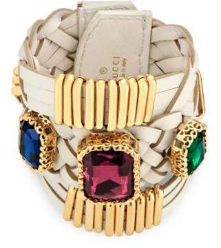 Gucci Bracelet with crystals in leather