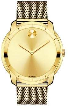 Movado Men's Bold Stainless Steel Multilink Bracelet Watch - Gold