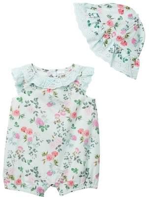 Little Me Botanical Sunsuit Set (Baby Girls)