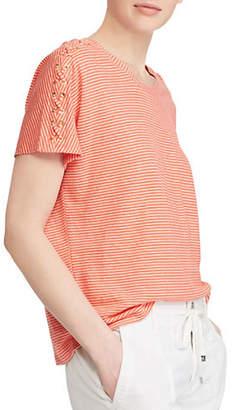 Lauren Ralph Lauren Short-Sleeve Knitted Top