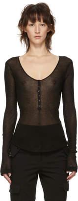 Kiki de Montparnasse Black Henley T-Shirt