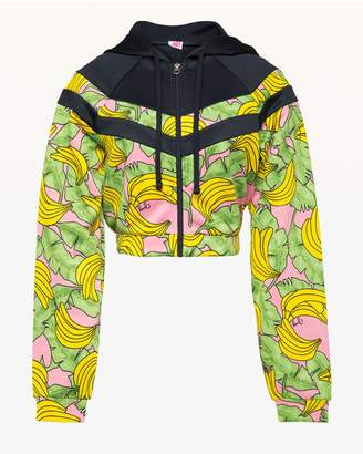 Juicy Couture JXJC Banana Print Colorblock Tricot Jacket