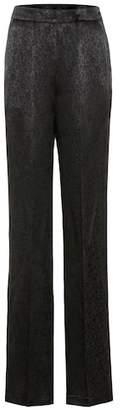 Etro Satin jacquard trousers