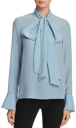 Alice + Olivia Wesley Silk Bow Blouse $275 thestylecure.com