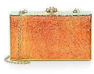 Edie Parker Women's Jean Iridescent Leather Box Clutch