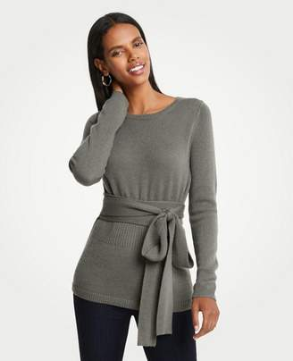 Ann Taylor Cashmere Belted Sweater