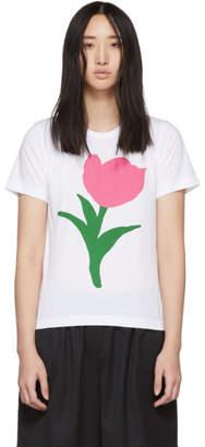 Comme des Garcons White Flower A Print T-Shirt