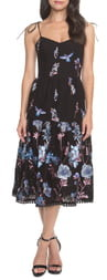 Dress the Population Abbie Floral Embroidered Eyelet Sundress
