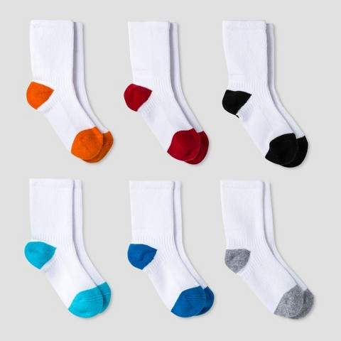 Baby Boys' Athletic Crew Socks 6pk Multicolor