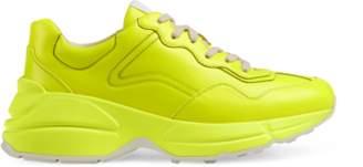 Gucci Rhyton fluorescent leather sneaker