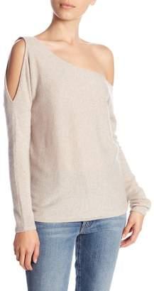 Minnie Rose Open Shoulder Cashmere Sweater