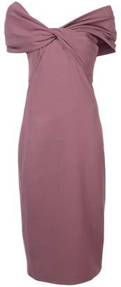 Cushnie off-shoulder midi dress