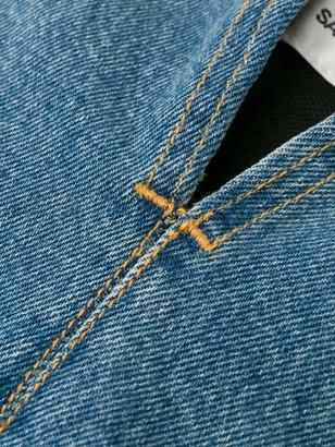 Saint Laurent strapless denim dress
