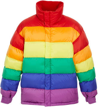 Burberry Color-Blocked Quilted-Shell Puffer Jacket
