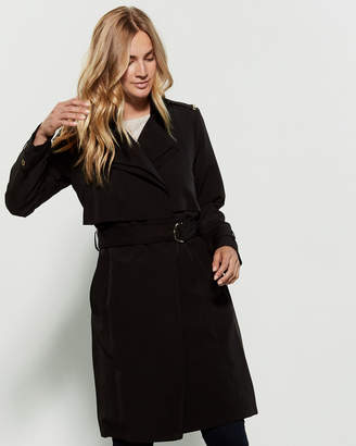 MICHAEL Michael Kors Double Collar Belted Walker Trench