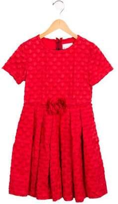 Lanvin Petite Girls' Floral-Adorned A-Line Dress w/ Tags