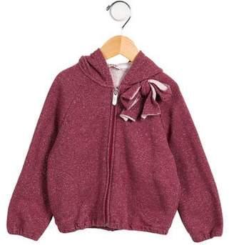 Il Gufo Girls' Casual Hooded Sweatshirt