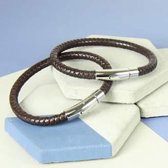 3a3e352e6 Lisa Angel Personalised Men's Leather Bracelet