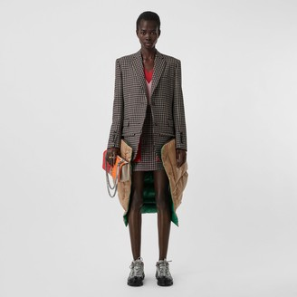Burberry Pocket Detail Tartan Wool Mini Skirt