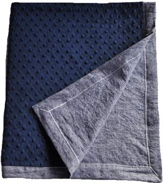 Cozy Wozy Denim Baby Blanket with Minky