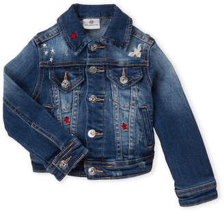 AG Adriano Goldschmied Toddler Girls) Embroidered Jean Jacket