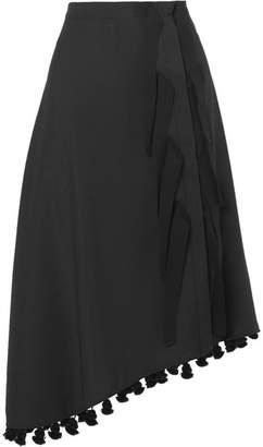 Altuzarra Basilica 带穗饰不对称羊毛马海毛混纺半身裙