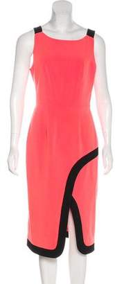 Black Halo Sleeveless Midi Dress