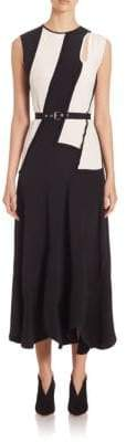 Derek Lam Striped Sleeveless Silk Dress