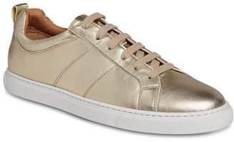 Whistles Women's Koki Metallic Lace-Up Sneakers