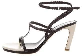 Dries Van Noten Braided Leather Sandals