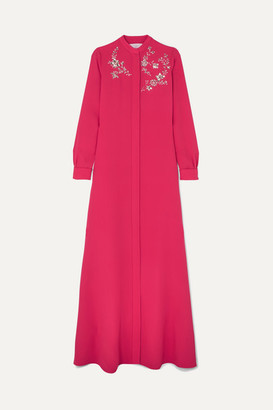Carolina Herrera Crystal-embellished Silk-georgette Gown - Pink