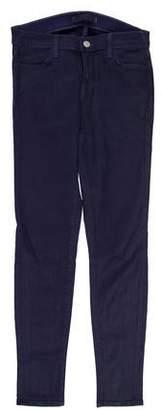 J Brand Mid-Rise Coated Skinny Jeans