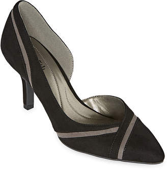 East Fifth east 5th Womens Denny Slip-on Pointed Toe Spike Heel Pumps