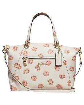 Coach Rose Print Prairie Satchel