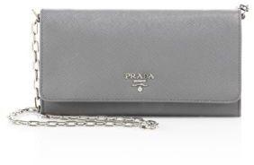 pradaPrada Saffiano Leather Chain Wallet
