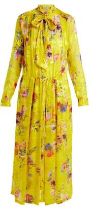 Preen by Thornton Bregazzi Lupin Chiffon Devore Dress - Womens - Yellow Multi